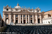 Vatican City - St. Peters Square being readied for Palm Sunday